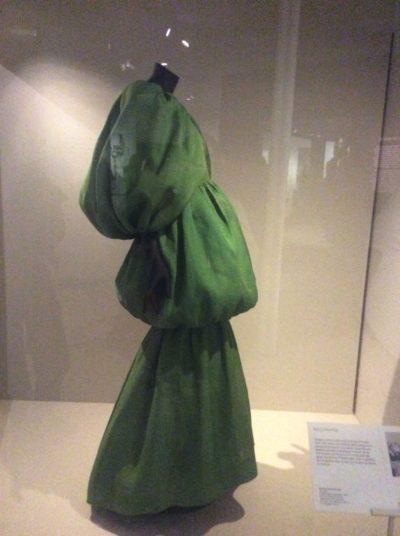 Green gown Balenciaga - Jane White Couture Tuition