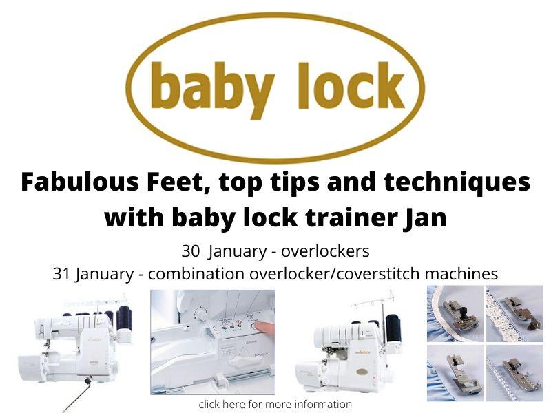 baby lock workshops with baby lock trainer Jan