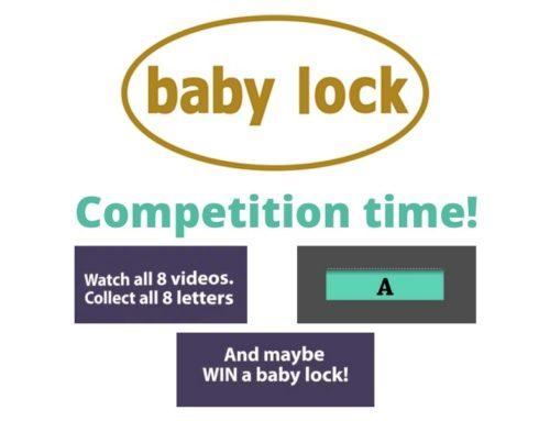 Win a baby lock air-threading machine!