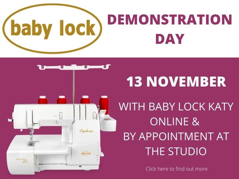 baby lock overlocker, cover stitch and combination machine demonstration day - Jane White Tuition