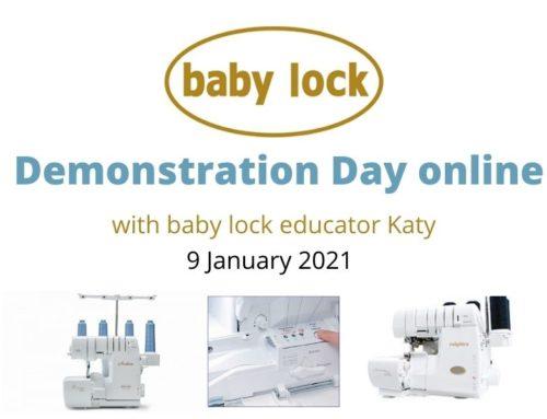 baby lock demonstration day online