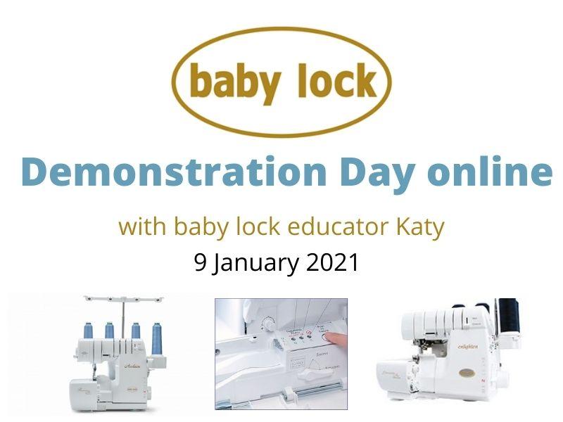 baby lock demonstration day 9 January 2021